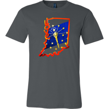 Love Indiana State Flag Map Outline Souvenir Gift T-shirt