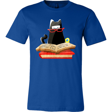 Nerdy Cat Funny Book Nerd Librarians T-shirt