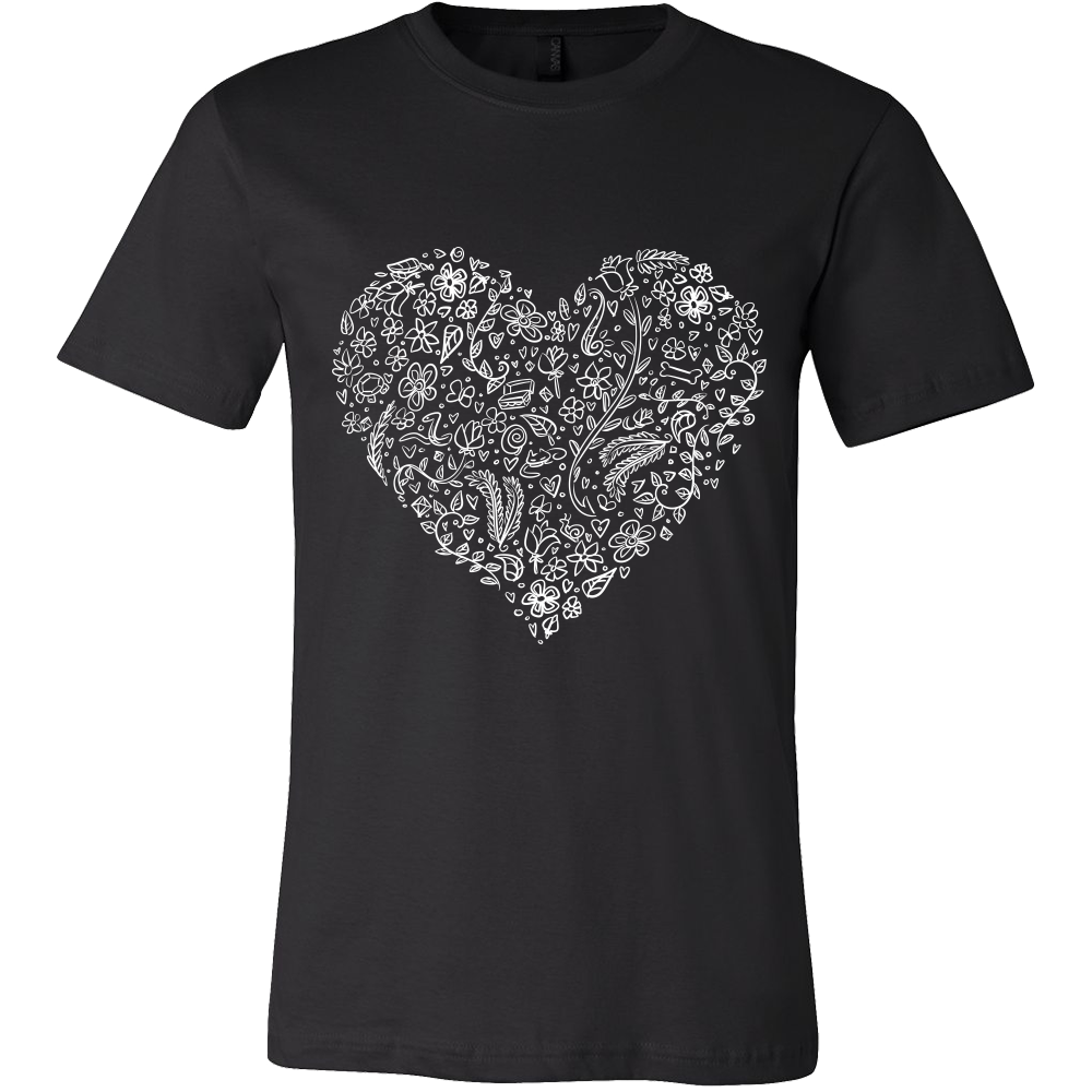 I Love You Sign Tshirt -  Floral Design - Men and Women