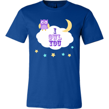I Owl You Cute Owl Stars Moon Premium T-shirt
