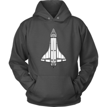 Shark and Space Shuttle Shark Hoodie