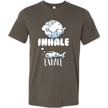 Inhale - Exhale - Puffy Fish Underwater Tshirt