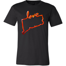 Love Connecticut State Flag Map Outline Souvenir Gift T-shirt