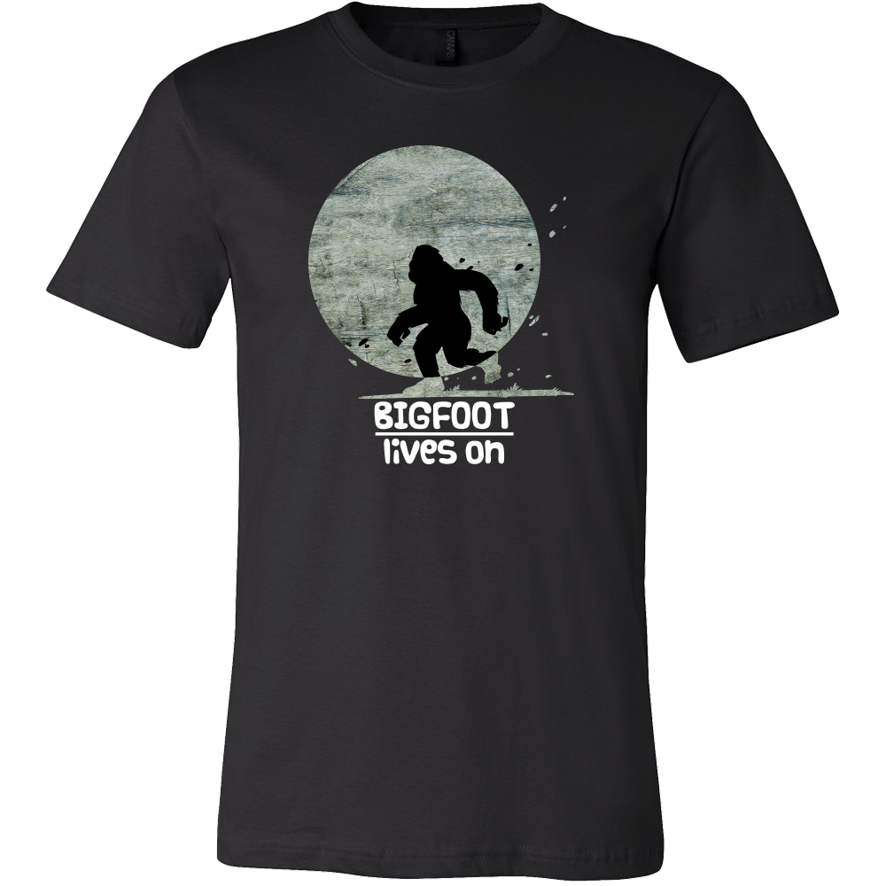 Bigfoot Lives On Witty,Funny Bigfoot Gift T-Shirt