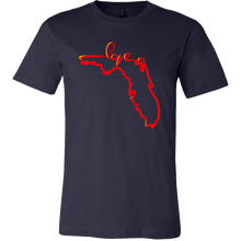 Love Florida State Map Outline Souvenir Gift T-shirt