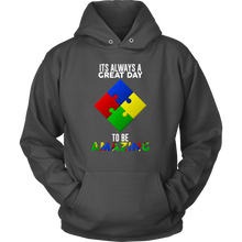 It's a Great Day To Be Amazing Puzzle Autism Hoodie
