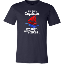I Am The Captain,My Boat,My Rules Boating Bosses Funny T-shirt