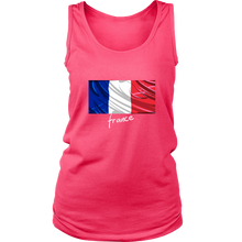 France Graphic Patriotic Vintage Flag Tank Top or Hoodie