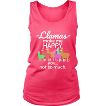 Llamas Make me Happy, You Not So Much Love Funny Llamas Tank and Hoodie