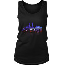 Chicago City Skyline Landmark U.S.A Souvenir Travel Tank Top Or Hoodie