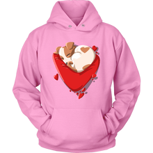 Puppy Love Heart Valentines Day Hoodie