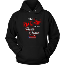 I'm Not Yelling I'm Just Puerto Rican Flag Hoodie and Tank Tee