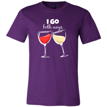 Red and White Wine Drinking - I go Both Ways Funny T-shirt