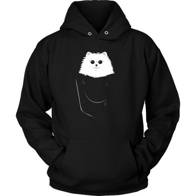 Fluffy Pom in a Pocket Dog Pets Hoodie