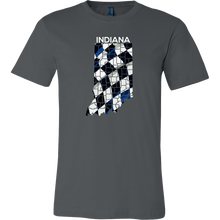 Indiana State Indianapolis Checkered Flag Map U.S.A T-shirt