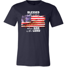 American Flag Patriotic Blessed is the Nation Christian T-shirt