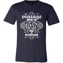 Vintage, Made in 1957, Age to Perfection Vintage Print Tshirts