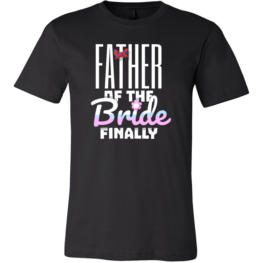 Funny Stamped Father Of The Bride Engagement Wedding T Shirt