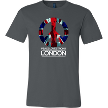 Peace Love London Strong Unite England Memorial Union Jack UK T Shirt