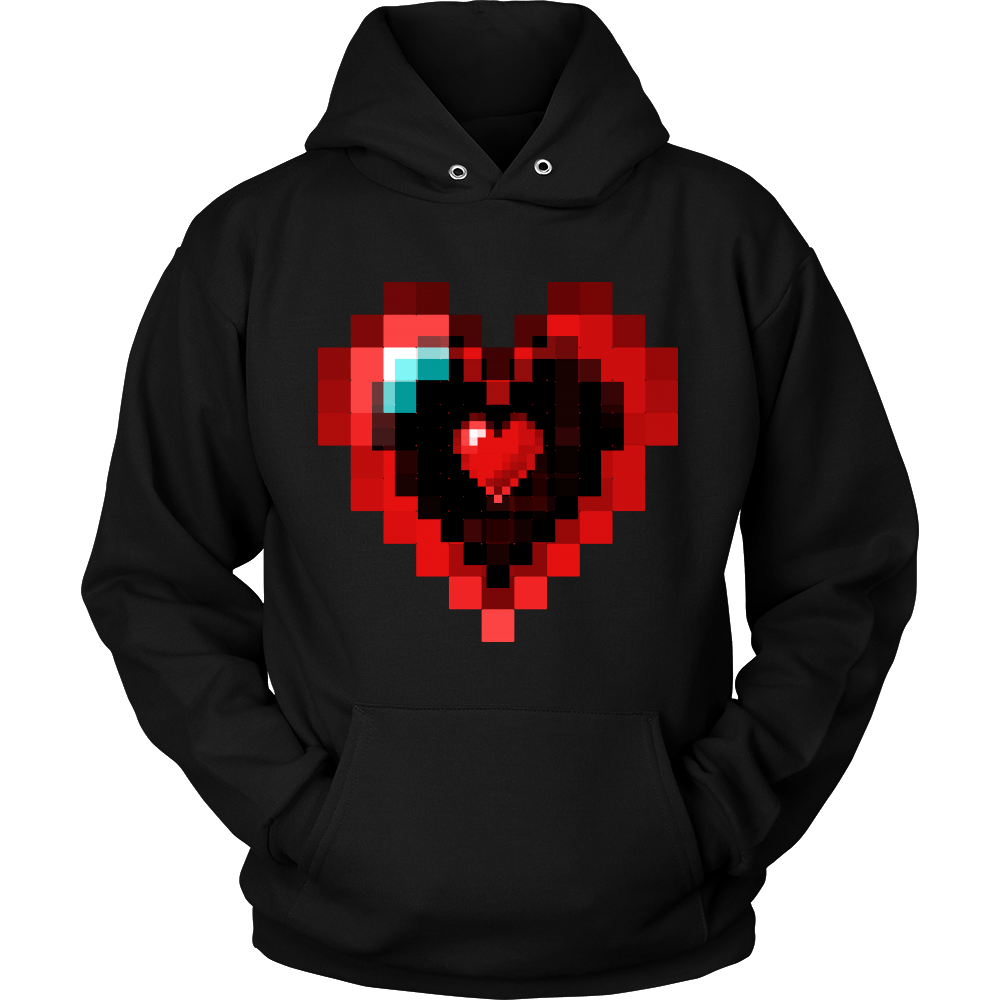 Graphic Heart Love Valentines Day Hoodie