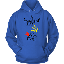 Doctor Hoodie - A Beautiful Day To Save Lives Quote on Cotton Hoodie