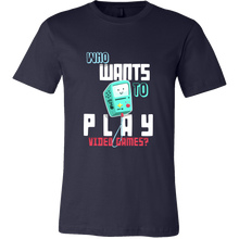 Video Game Tshirt - Who wants to play video games quote design Tshirt