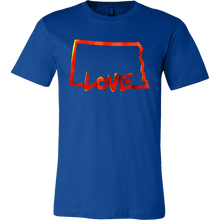 Love North Dakota State Flag Map Outline Souvenir Gift T-shirt