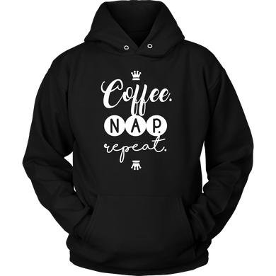 Coffee, Nap, Repeat Novelty Hoodie Gift For Coffee Lovers