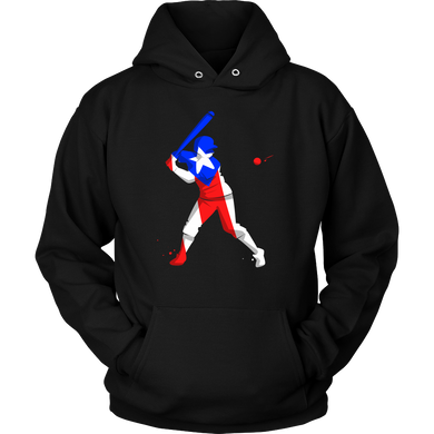Colorful Baseball Flag Puerto Rico Hoodie Design