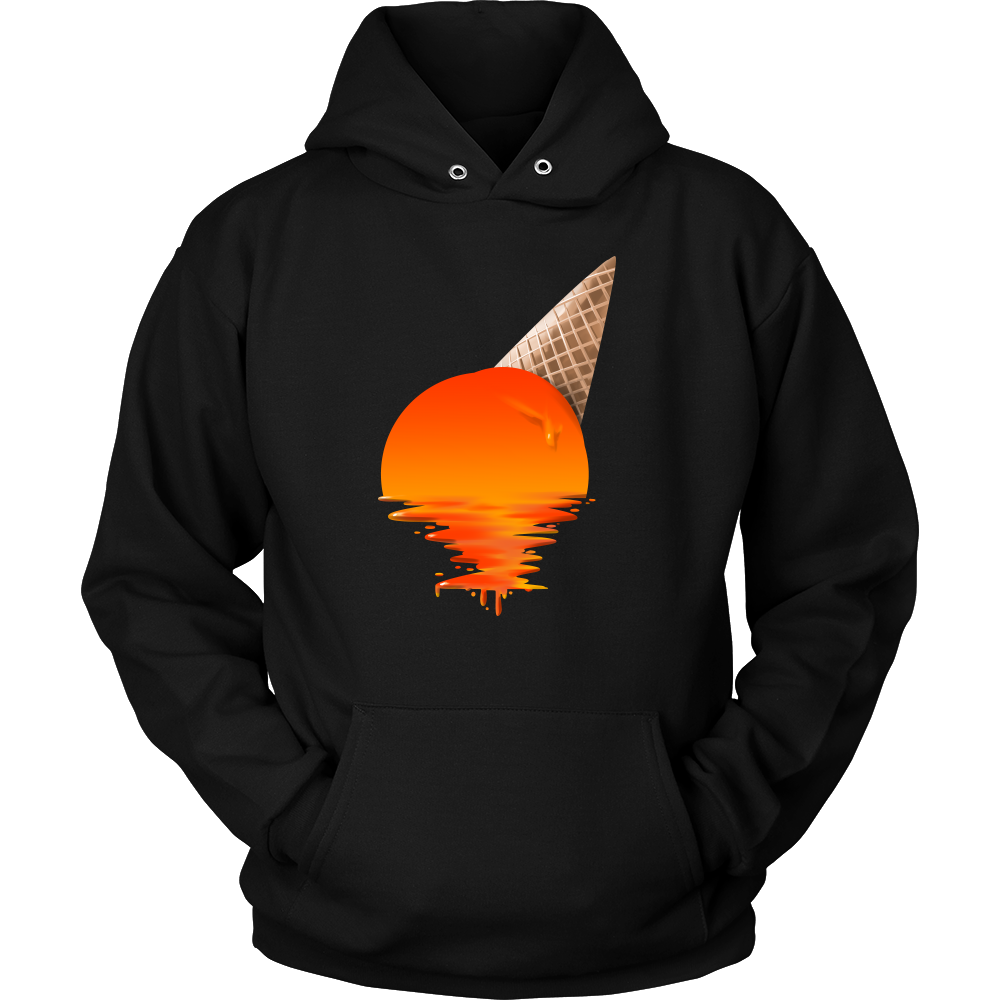 Sunset Ice Cream' Artistic Hoodie