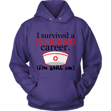'I Survived a Nursing Career, I'm Still OK' Nurses Hoodie
