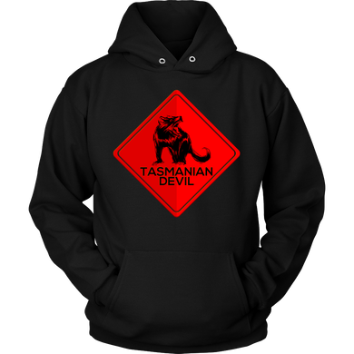 AUSTRALIA T-shirt Australia Tasmanian Devil Highway Road Warning Sign Hoodie