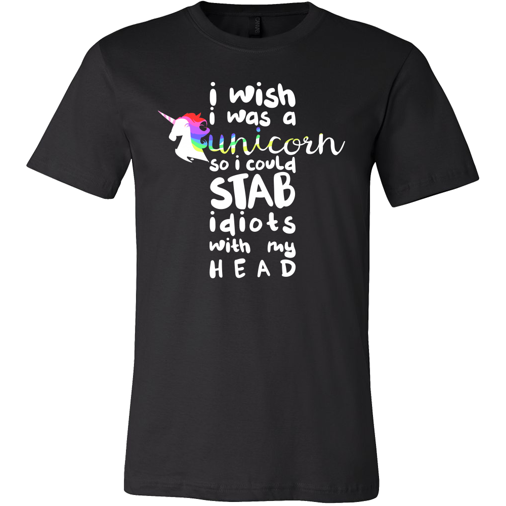Wish I was a Unicorn Funny Humor Animal T-shirt