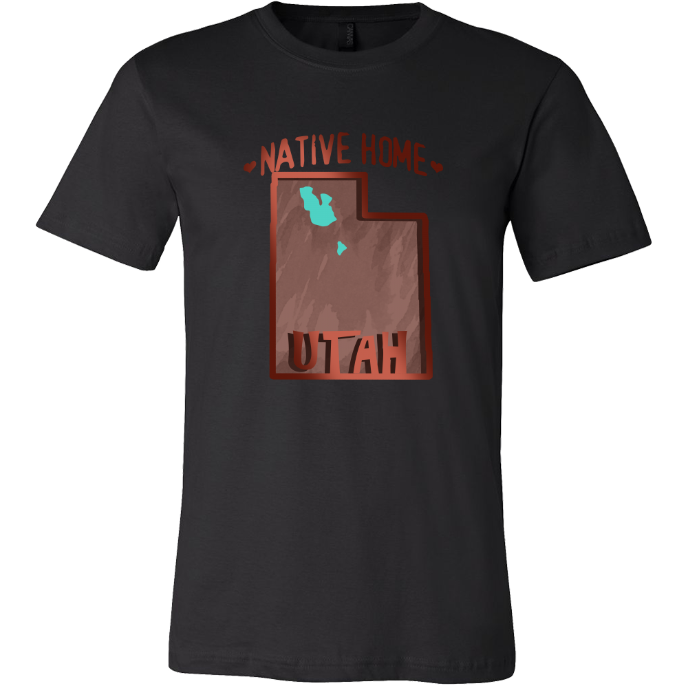 Love Utah State Native Home Map Outline Souvenir Gift T-shirt