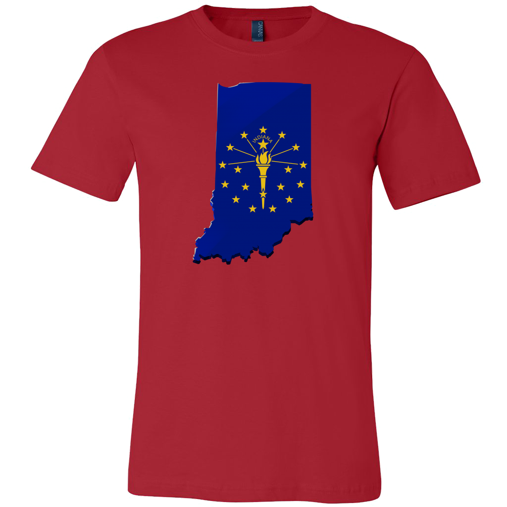 Indiana State Indianapolis Flag Map U.S.A T-shirt