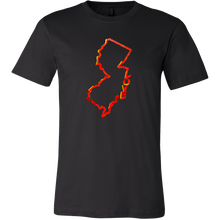 Love New Jersey State Flag Map Outline Souvenir Gift T-shirt