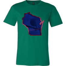 Love Winconsin State Map Outline Souvenir Gift T-shirt
