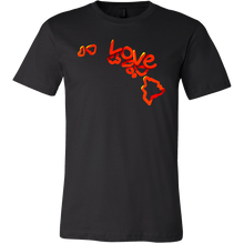 Love Hawaii State Flag Map Outline Souvenir Gift T-shirt