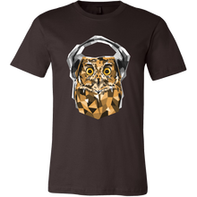 Animal Life Owl With Headphones Design on T-Shirt