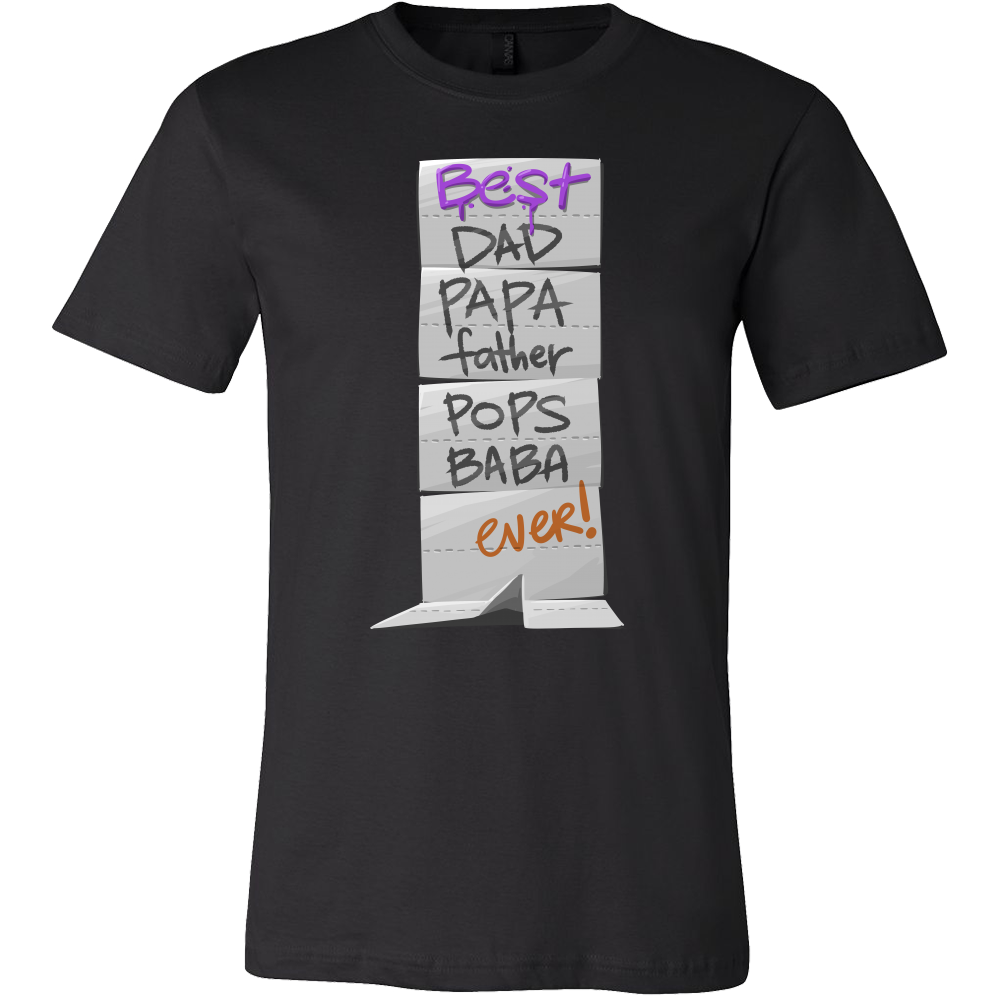 Best Dad Father Papa Pops Ever Novelty Funny Gift T-shirt