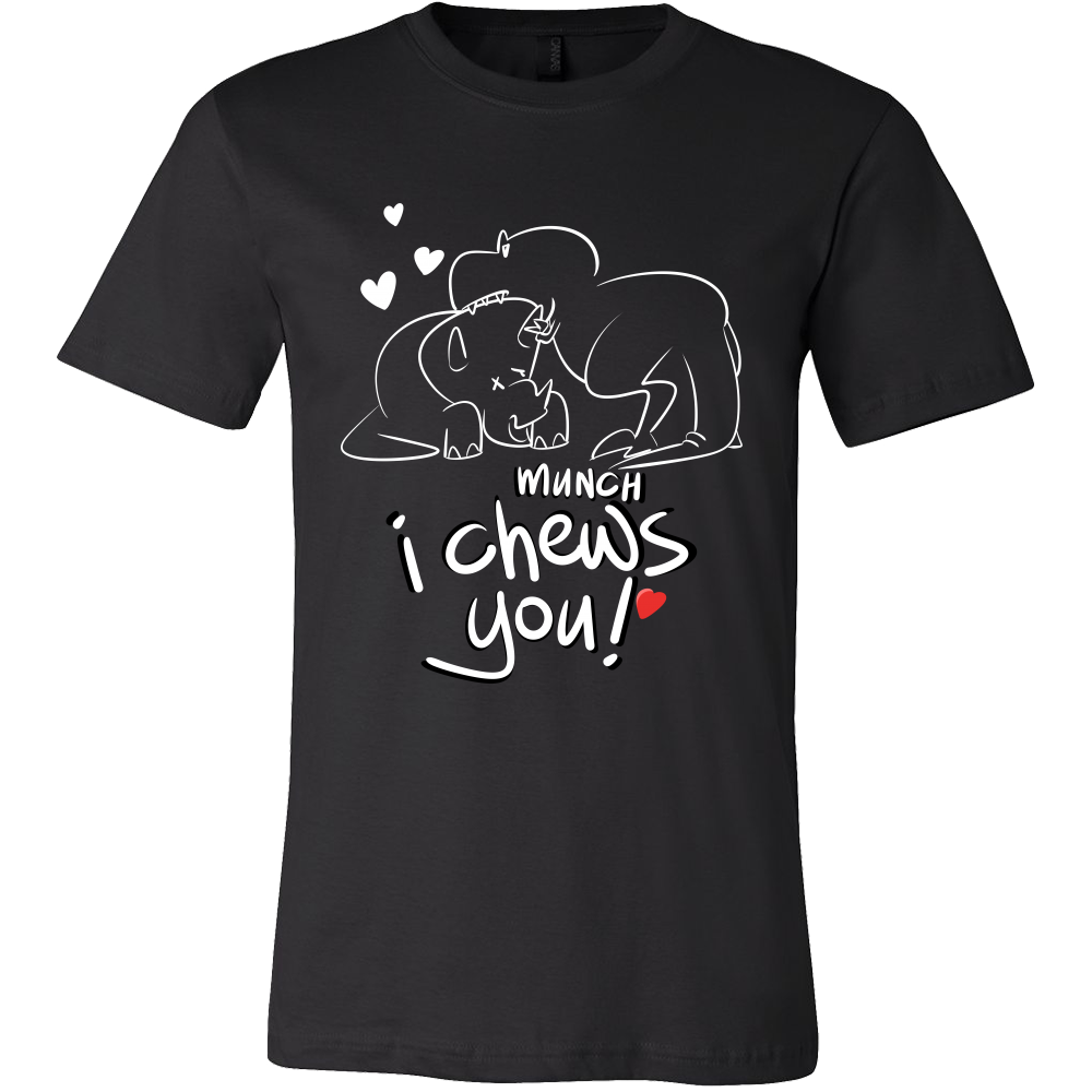 Heart Design Tshirt - I Chews You Fun Design and Quote on Tshirt
