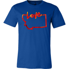 Love Montana State Flag Map Outline Souvenir Gift T-shirt