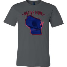 Love Winconsin State Native Home Map Outline Souvenir Gift T-shirt