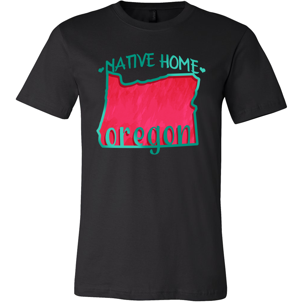 Love Oregon State Native Home Map Outline Souvenir Gift T-shirt