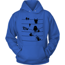 Striped Bird Hoodie With Birds