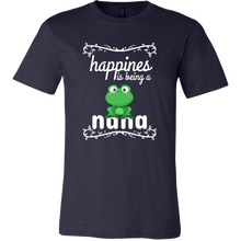 Happiness Is Being a Nana,Cute Grandmothers Frog T Shirt