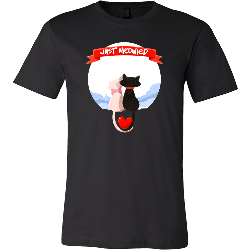 68058bf69 Just Married Cat Lover Funny Relationship Couples T-shirt ...