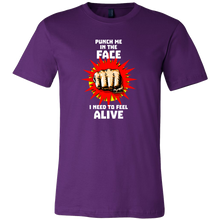 Punch Me in The Face, Feel Alive Graphic Fist Boxing T Shirt