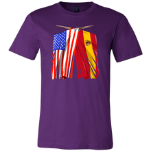 Spanish American Spain and America Pride Flag T-shirt