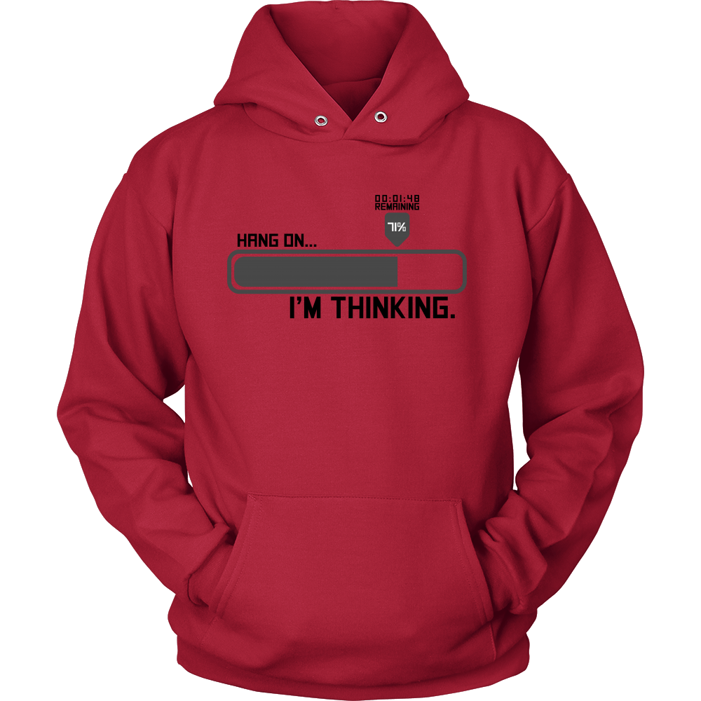 Hang on, I'm Thinking...Loading - Funny Hoodie for Men and Women
